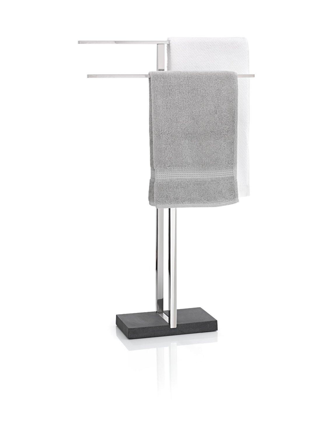 Blomus Floor Standing Towel Rack Stand, Polished Stainless Steel