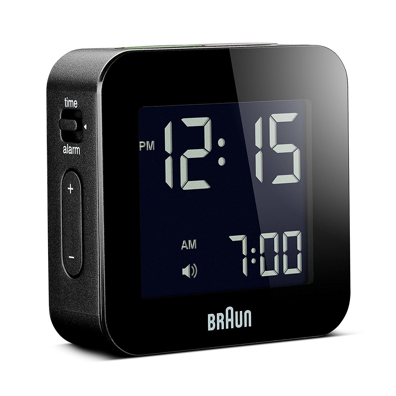 Braun BNC008BK LCD Quartz Alarm Clock