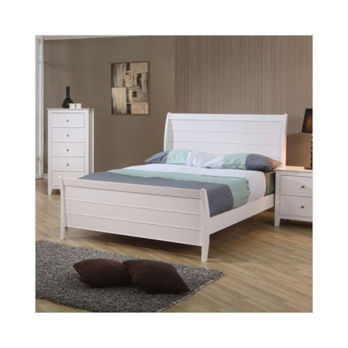 Coaster Furniture 400231F Selena Full Size Sleigh Bed In White Finish