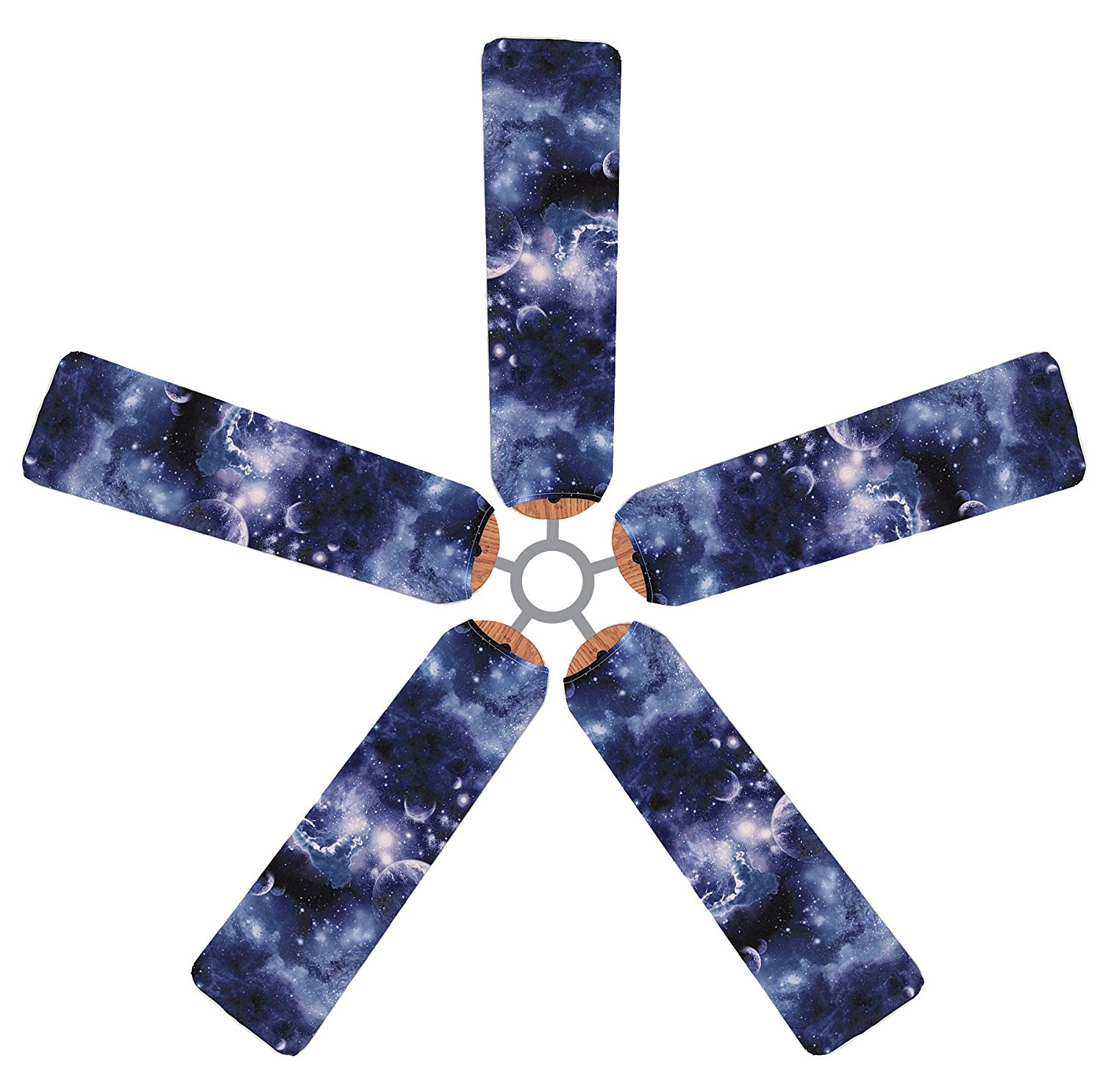Fan Blade Designs V8K3CP-64P Ceiling Fan Blade Covers, Outer Space