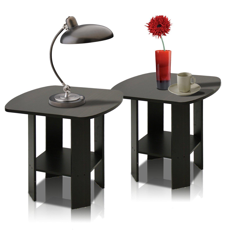 Furinno 2-11180EX Simple Design End Table Set of Two, Epsresso (Espresso)