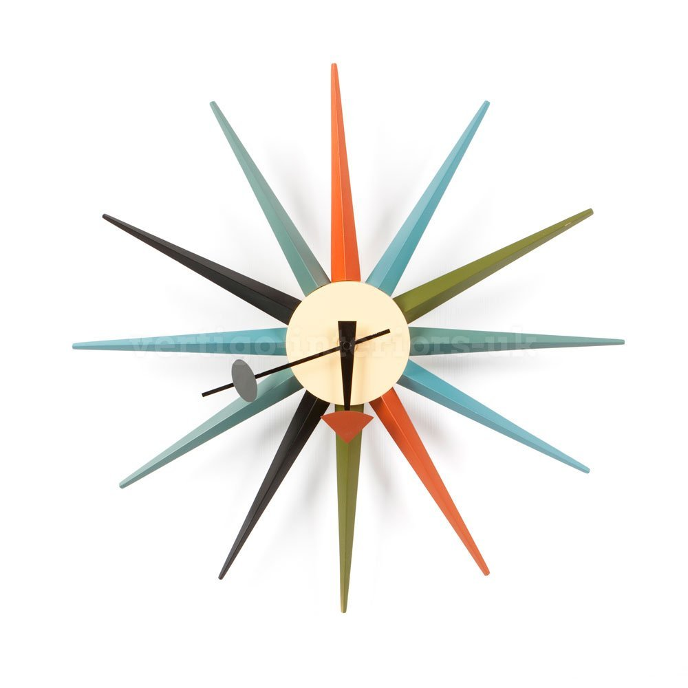 George Nelson Style Starburst Wall Clock