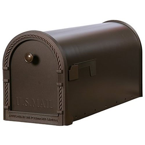 Gibraltar Designer Large Capacity Galvanized Steel Venetian Bronze, Post-Mount Mailbox, DM160V01