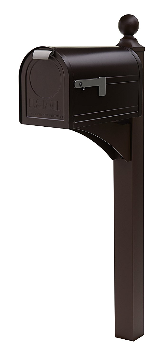 Gibraltar East Pointe Aluminum & Steel Venetian Bronze, Mailbox Post, ES200VB0