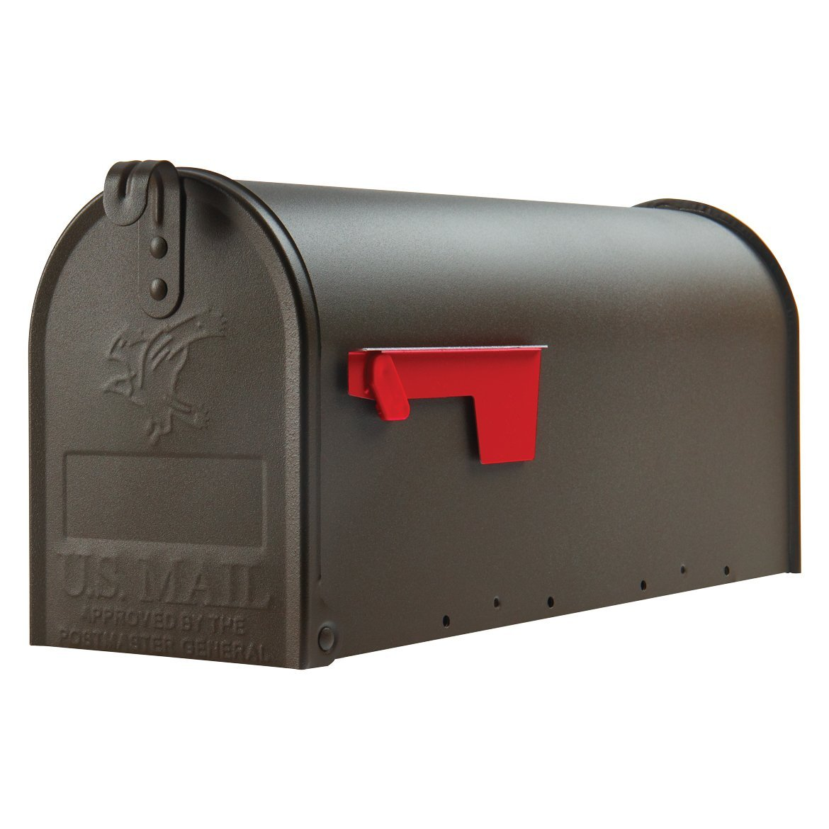Gibraltar Elite Medium Capacity Galvanized Steel Bronze Post-Mount Mailbox, E1100BZ0