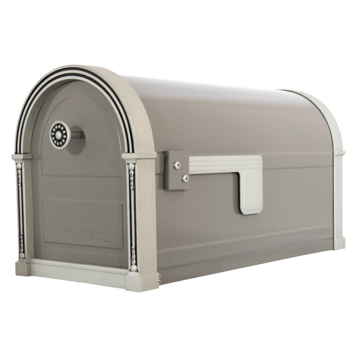 Gibraltar High Grove Large Capacity Galvanized Steel Light Bronze, Post-Mount Mailbox, HM16NL01