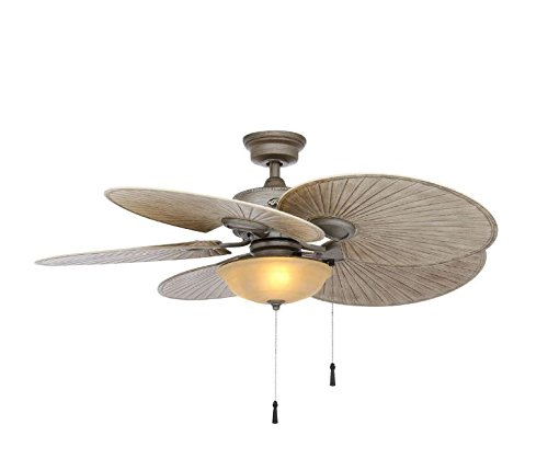 Hampton Bay 48 in. Outdoor Havana Cambridge Silver Ceiling Fan