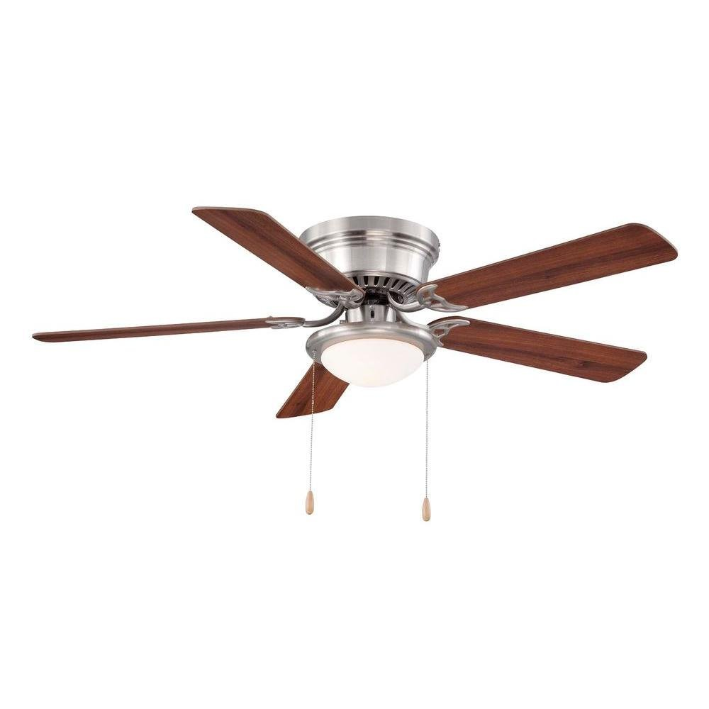 Hampton Bay Hugger 52 In. Brushed Nickel Ceiling Fan