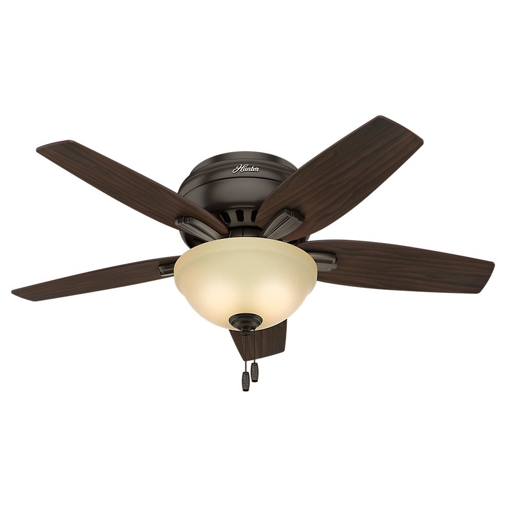 "Hunter 51081 Newsome Ceiling Fan with Light, 42""/Small, Premier Bronze"