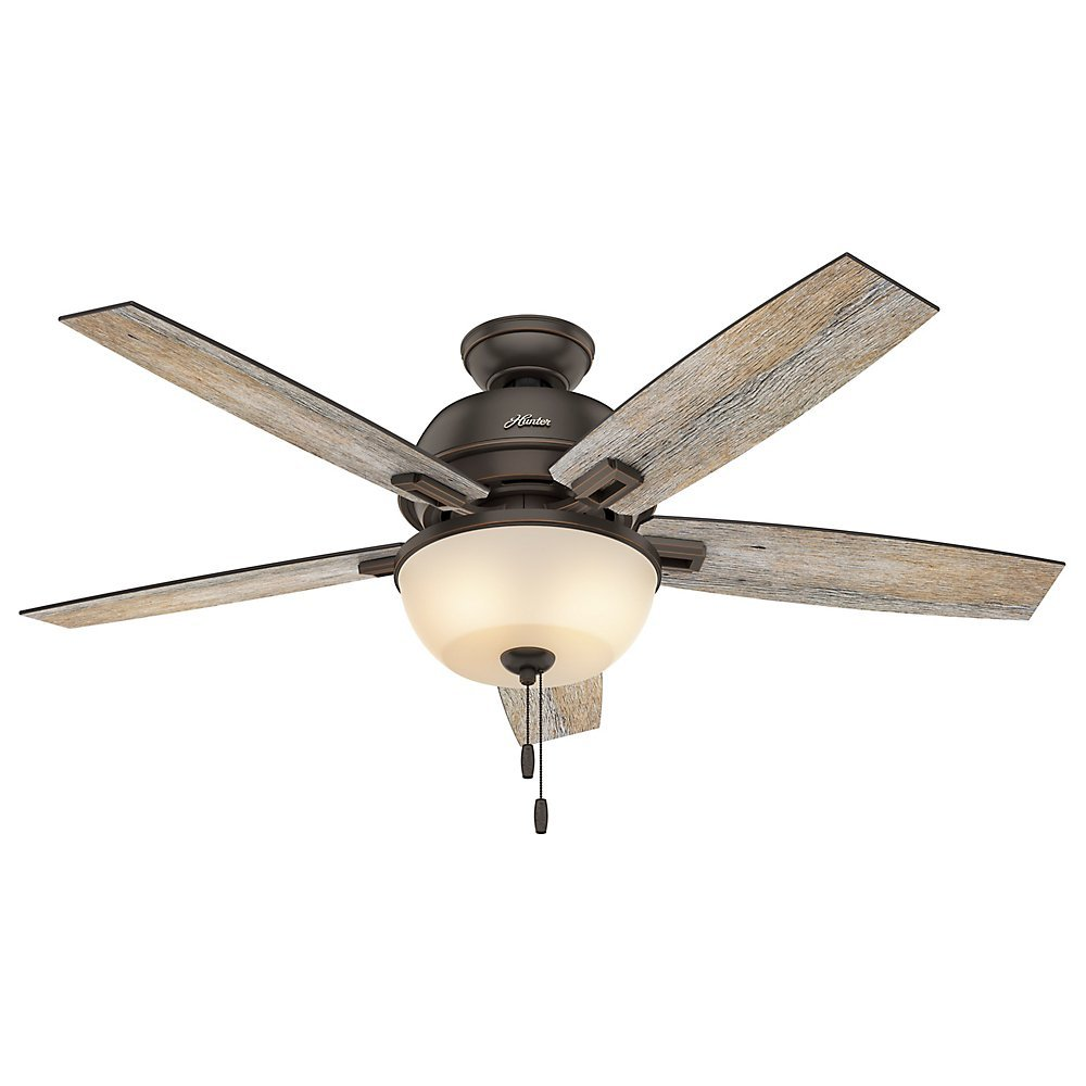 "Hunter 53333 52"" Donegan Onyx Bengal Ceiling Fan with Light"