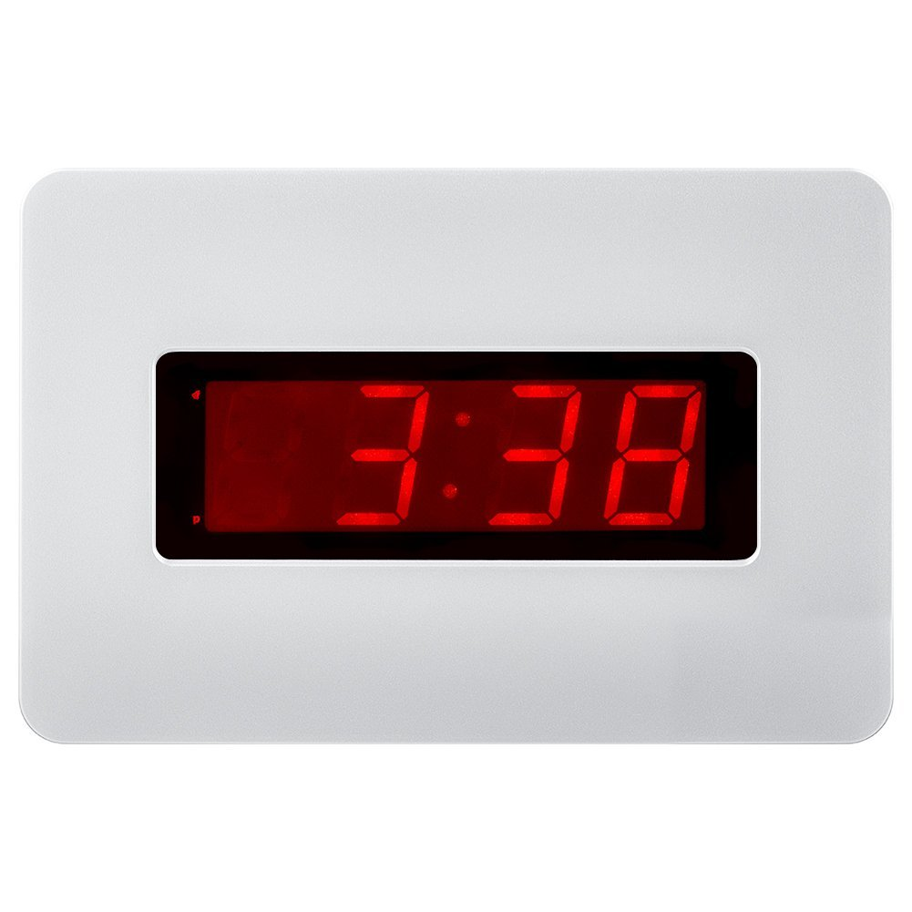 "Kwanwa Electric Wall Clock Battery Operated Only With Big 1.4"" Red LED Numbers Display,Place It Anywhere Without A Cumbersome Cord"