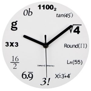 "Math Clock, Timelike Unique Wall Clock Modern Design Novelty Maths Equation Clock - Each Hour Marked By a Simple Math Equation (12""(30CM))"