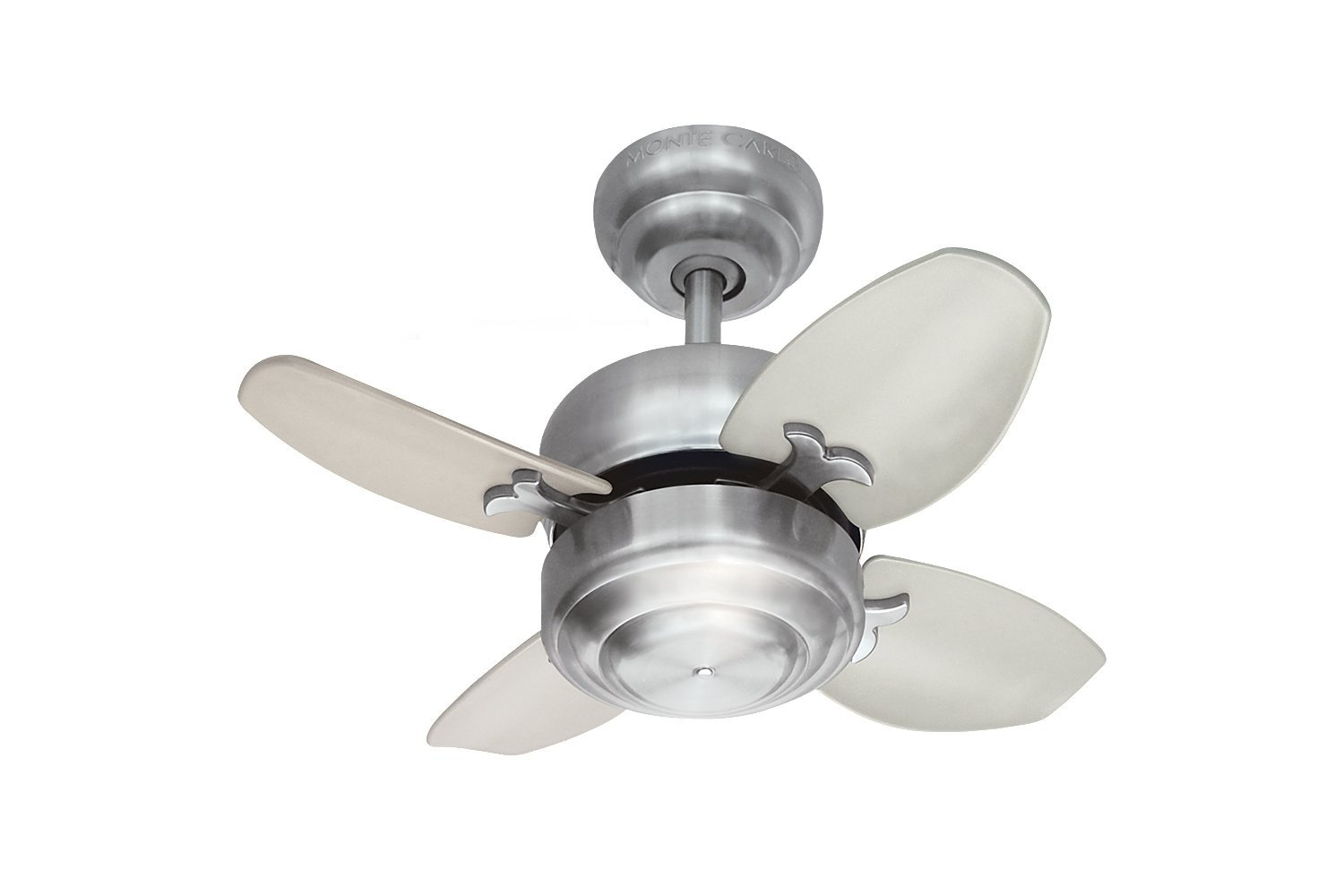 "Monte Carlo 4MC20BS Mini Ceiling Fan, 20"", Brushed Steel"