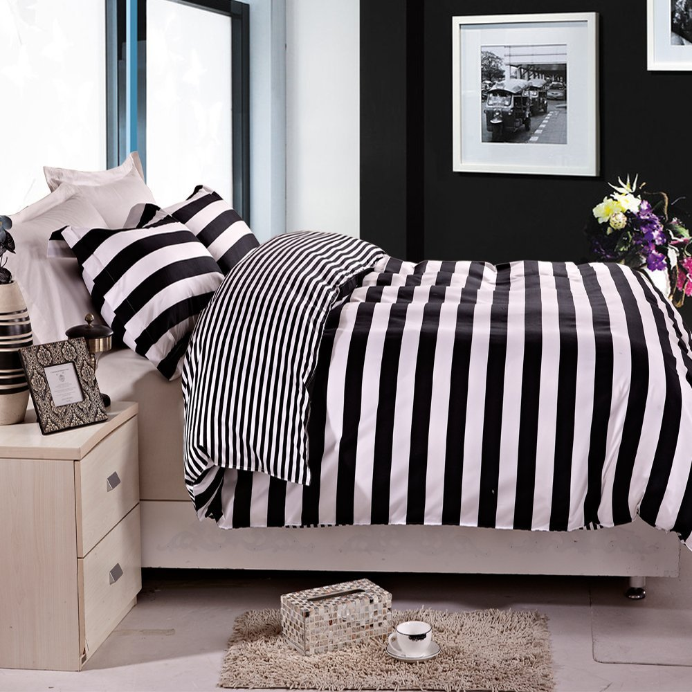 set animal products luxury print white duvet and black cover zebra cotton