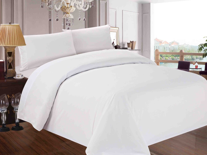 Red Nomad Luxury Duvet & Sham Set, Hypoallergenic, Twin/Twin XL, 2 Piece, White