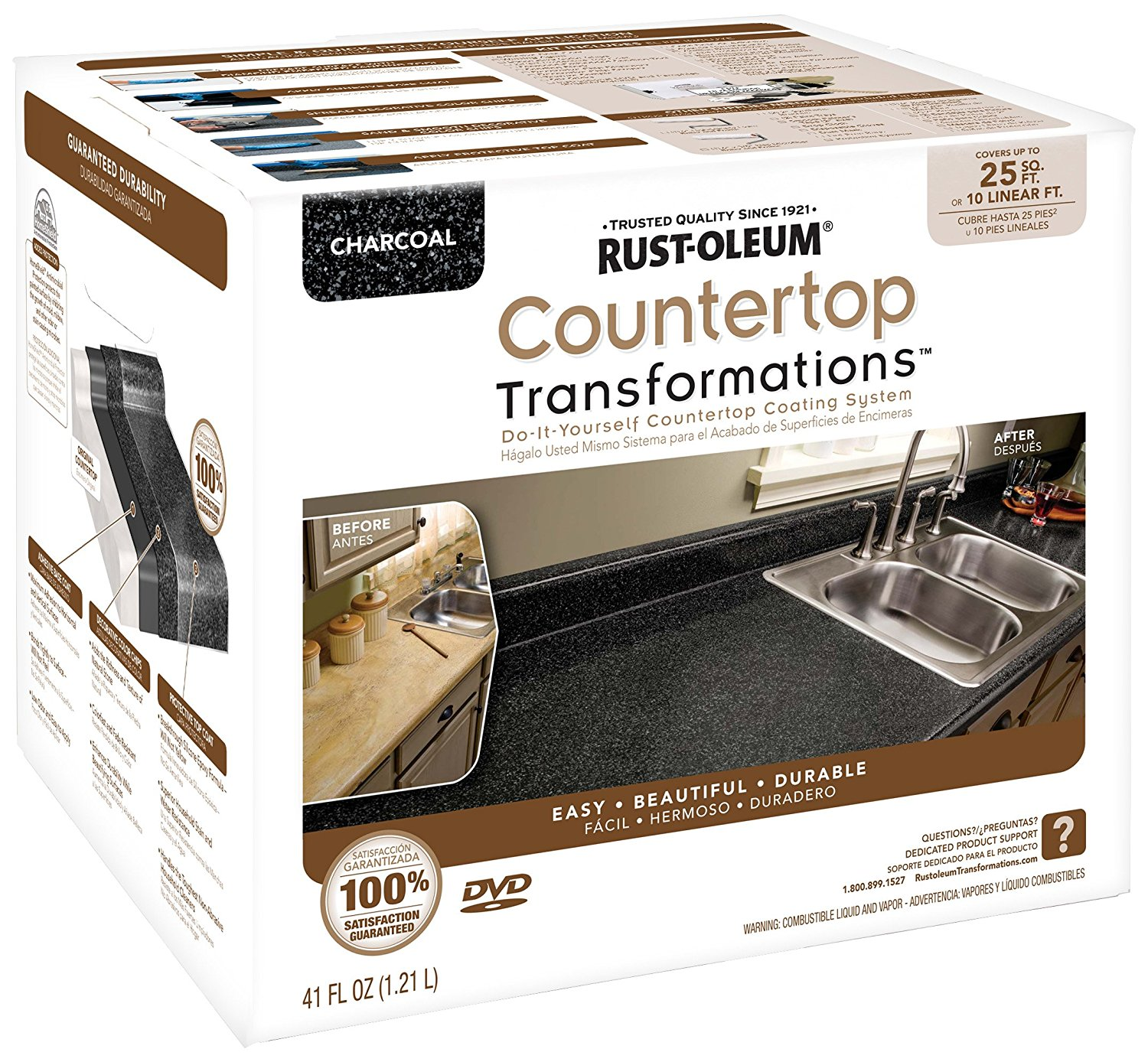 Rust-Oleum 258512 Counter Top Transformations, Small Kit, Charcoal