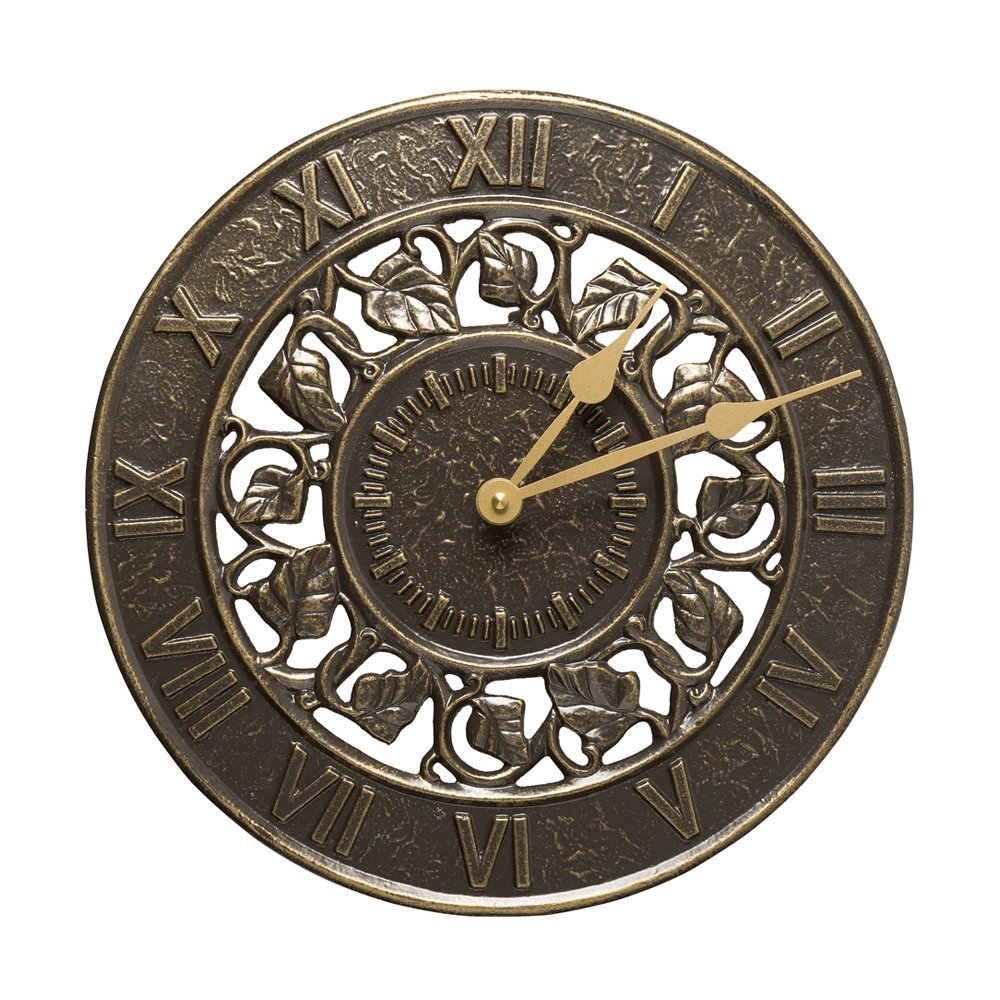 Whitehall Products Ivy Silhouette Clock, French Bronze