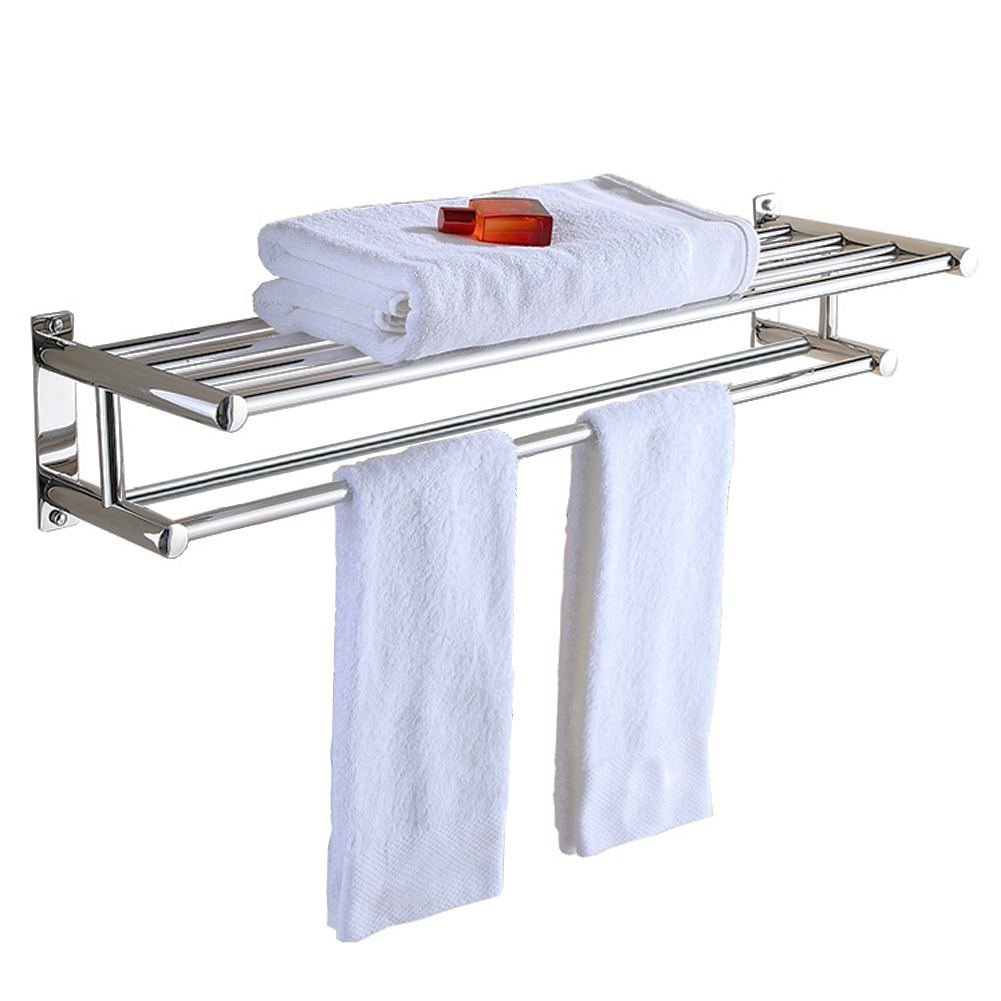 Aluminum Double Towel Bar 24 inch wih 5 Hooks ,bathroom shelves,towel holders bath ,towel rack ,bathroom shelves