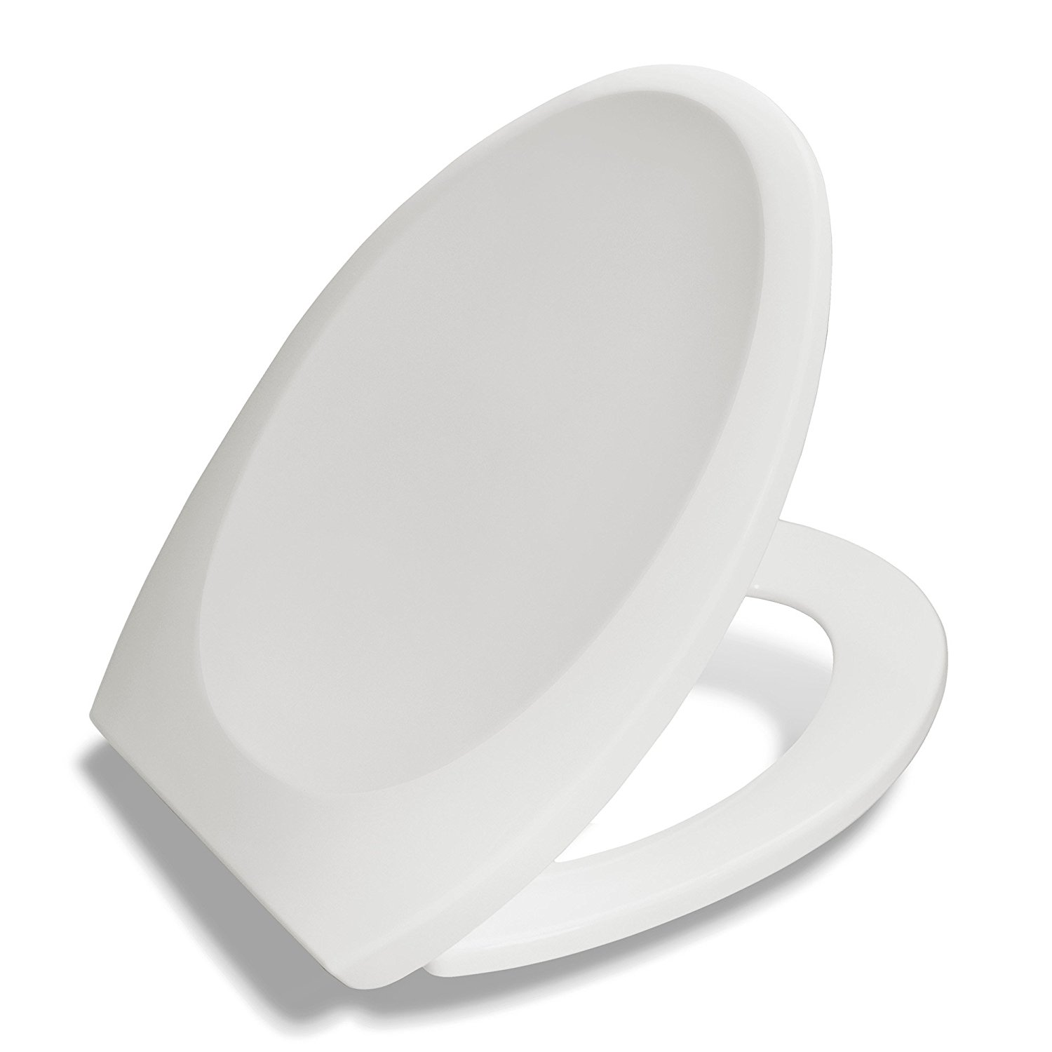 Bath Royale Premium Elongated Toilet Seat with Cover, White - Slow Close, Quick Release for Easy Cleaning. Fits All Elongated (Oval) Toilets