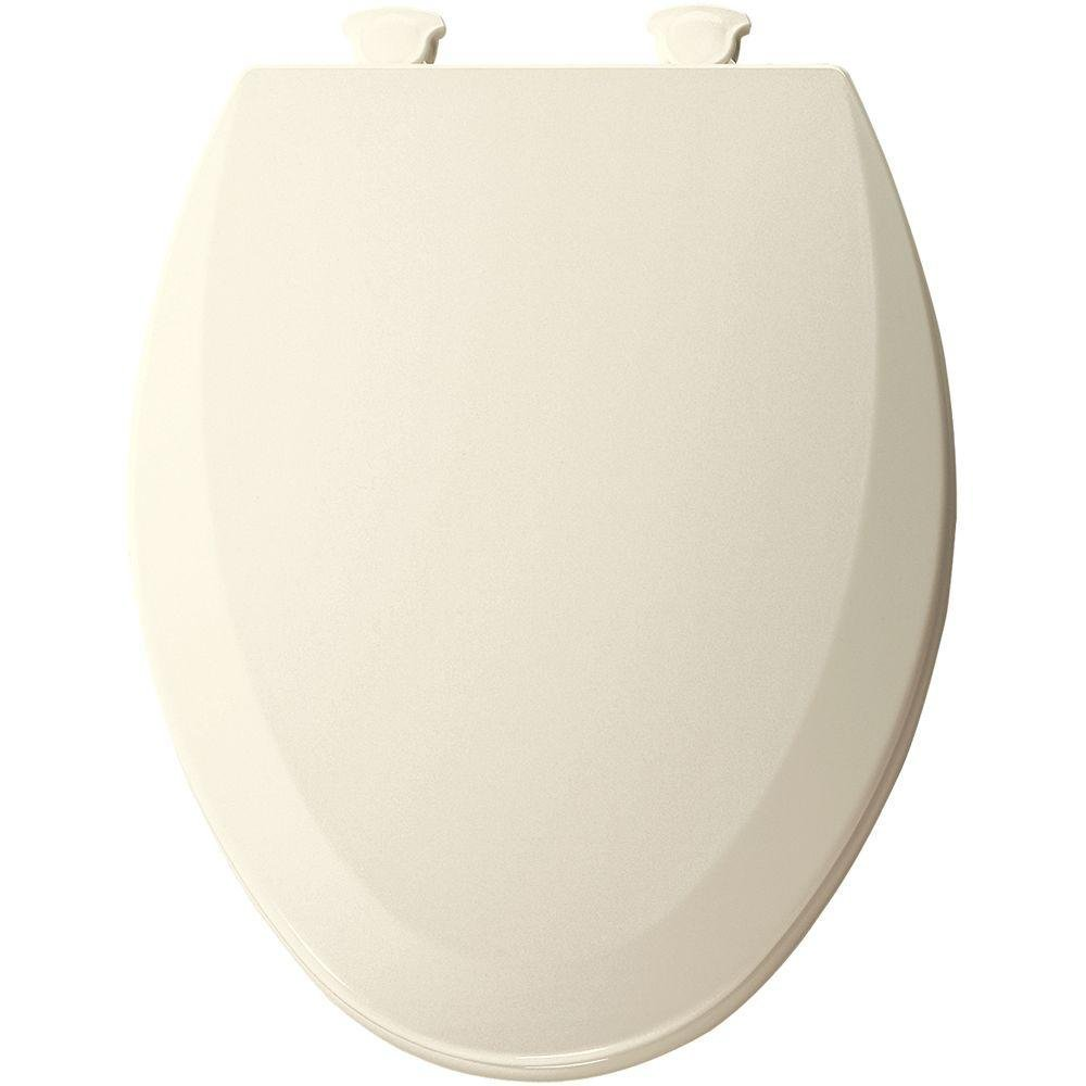 Bemis 1500EC346 Molded Wood Elongated Toilet Seat With Easy Clean and Change Hinge Biscuit/Linen