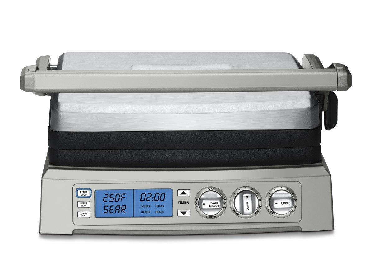 Cuisinart GR-300WS Griddler Elite Grill, Stainless Steel