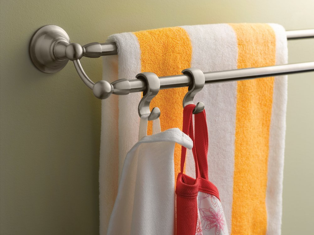 Moen DN6822BN Sage 24-Inch Bathroom Double Towel Bar, Brushed Nickel