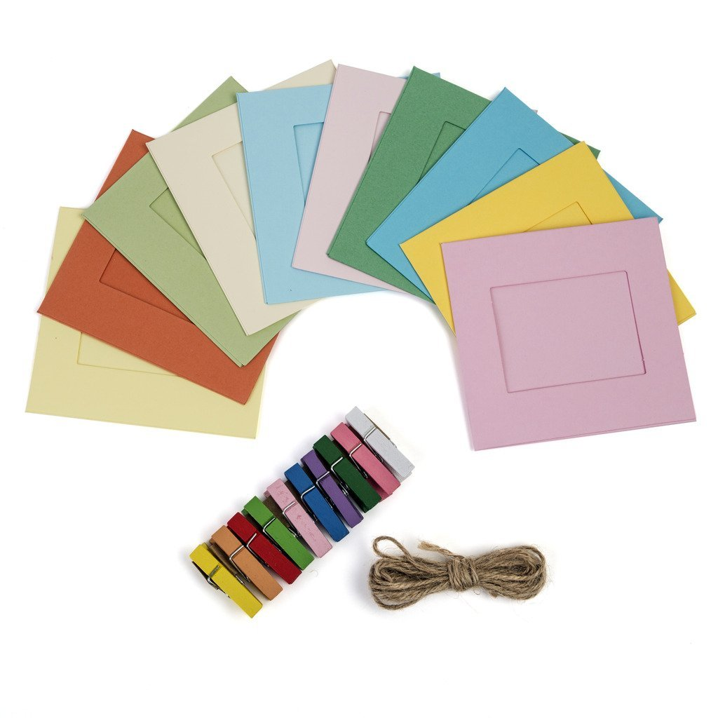 Polaroid Colorful Square Photo Frames for 2x3 ZINK Paper (Snap, Zip, Z2300)