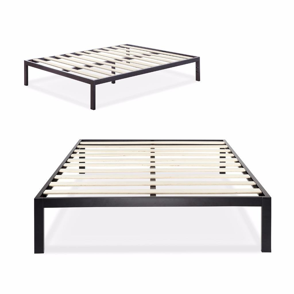 Zinus Modern Studio 14 Inch Platform 3000 Metal Bed Frame / Mattress Foundation / no Boxspring needed / Wooden Slat Support, Cal King