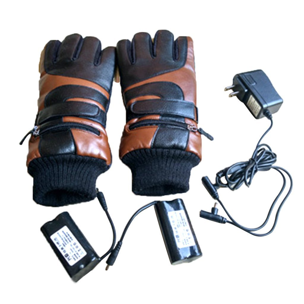 BIAL Unisex Mens Women Bicycle Motorcycle Skiing Battery Powered Winter Electric Heated Gloves Hands Warmer