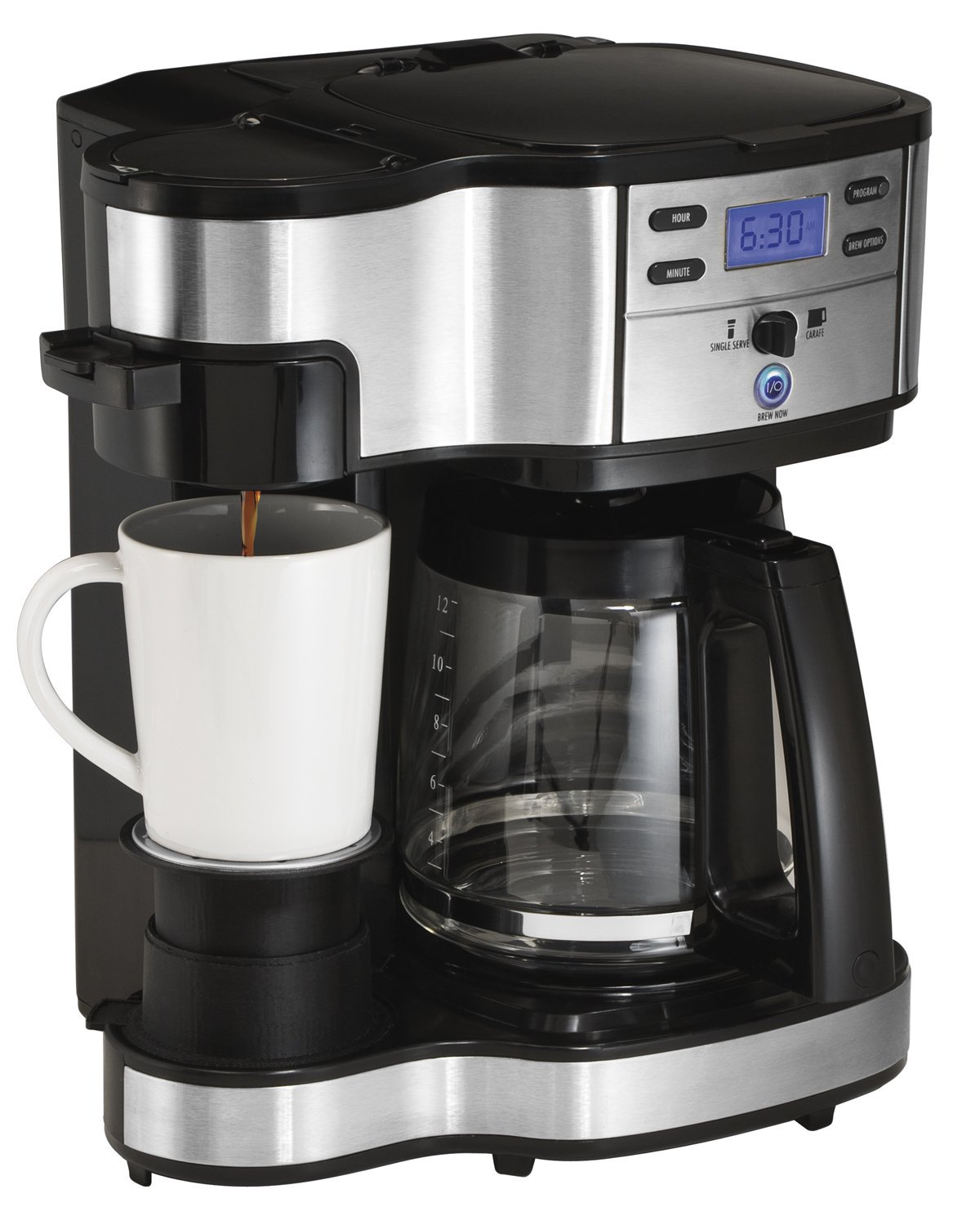 Hamilton Beach Full Pot Coffee Maker and Single Serve Coffee Brewer (49980A, 2-Way) Review