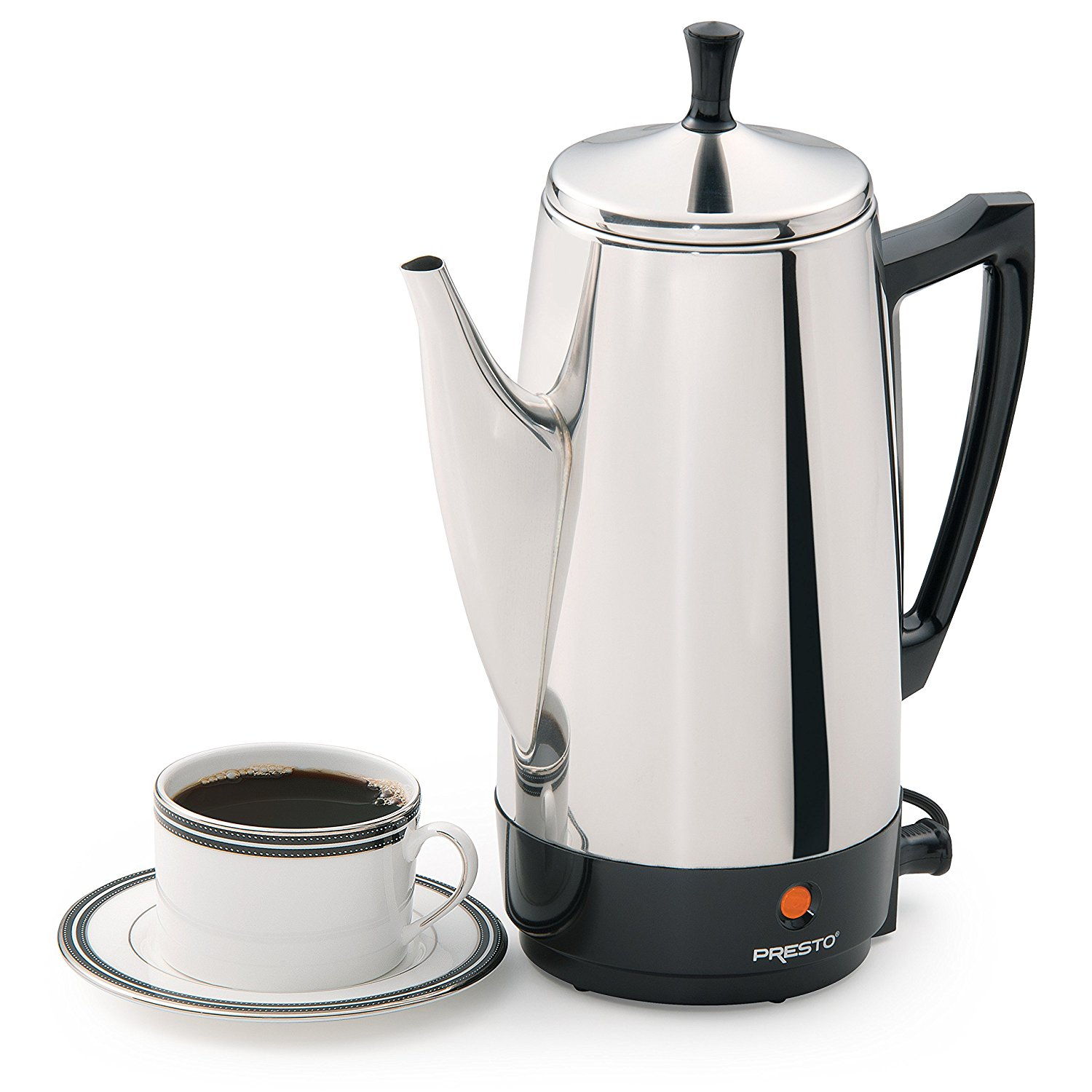 Coffee Espresso Makers Review ~ Presto stainless steel coffee maker cup review