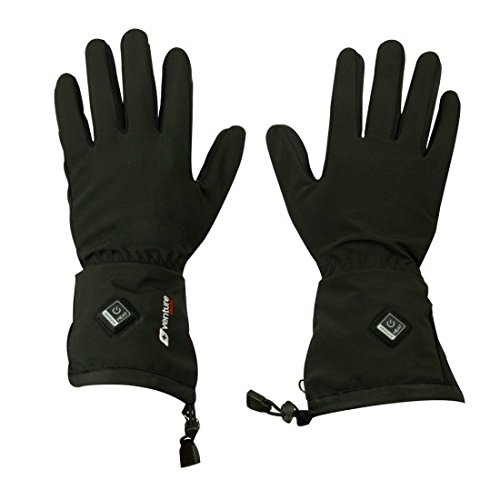 VentureHeat Avert Unisex-Adult 7.4V Battery Heated Glove Liner (Black, Large)