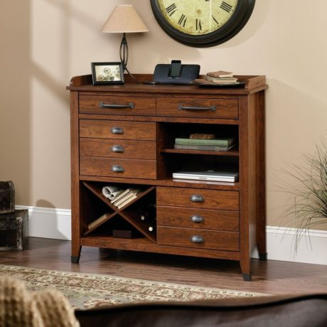 Sauder Carson Forge Sideboard, Washington Cherry Finish