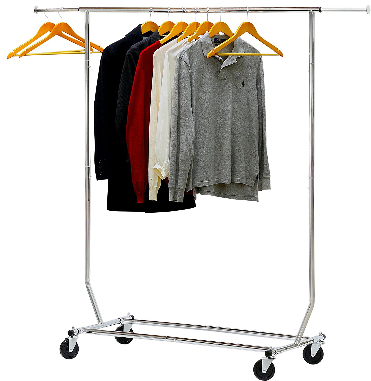 Simple Houseware Commercial Grade Clothing Garment Rack - Chrome