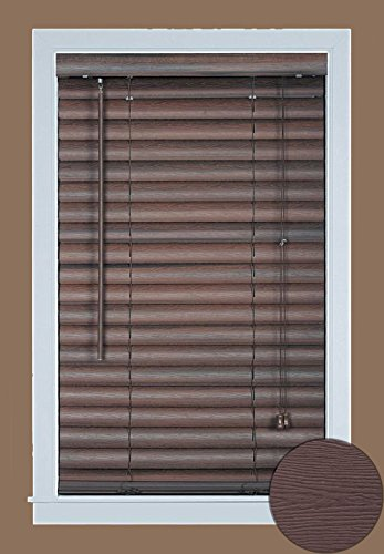 Achim Home Furnishings Luna 2-Inch Vinyl Window Blinds, 31 by 64-Inch, Mahogany
