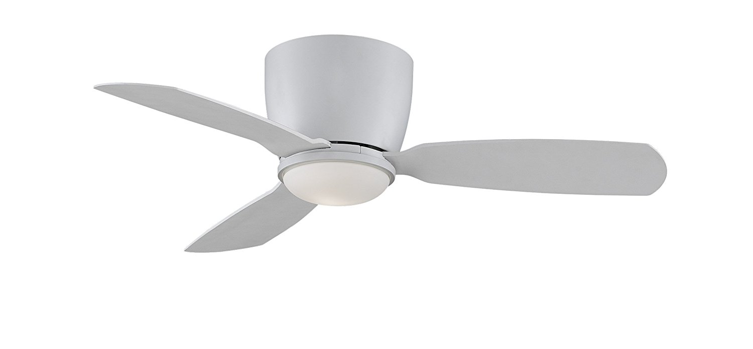 Fanimation Embrace - 44 inch - Residential Ceiling Fan Matte White with Matte White Blades with Light Kit and Remote - FPS7981MW