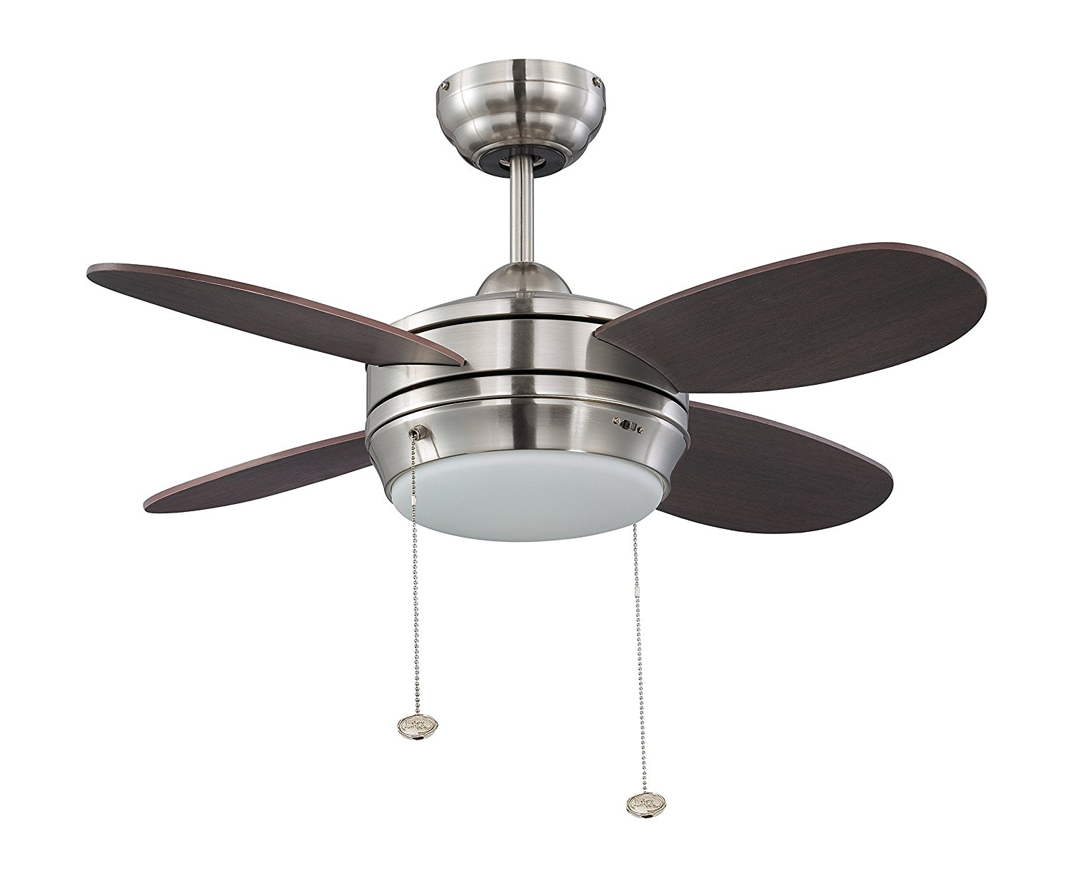 Litex E-MLV36BNK4LK1 Maksim Collection 36-Inch Ceiling Fan with Five Wench Wood Blades and Single Light Kit with Opal Frosted Glass