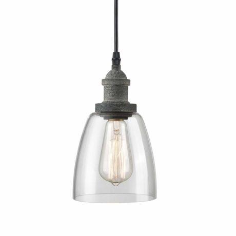 CLAXY Rustic Mini Glass Pendant Light Clear Glass Kitchen Island Pendant Lighting