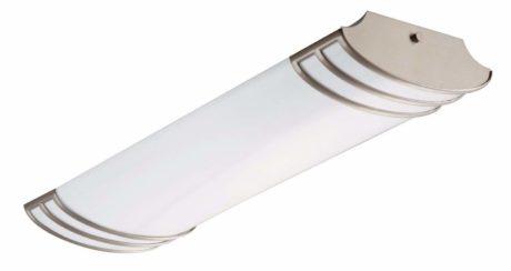 Lithonia Lighting Brushed Nickel 2-Ft Flush Mount Light for Kitchen   Attic   Basement   Home, 4000K, 25.8W, 2,180 Lumens