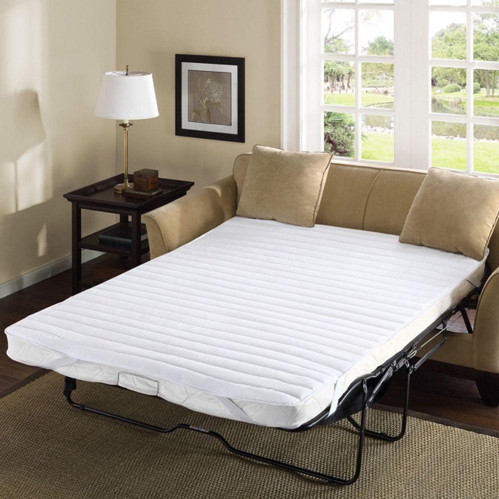 "Comfort Classics Frisco Microfiber Sofa Bed Pad White, 60 x 72"""