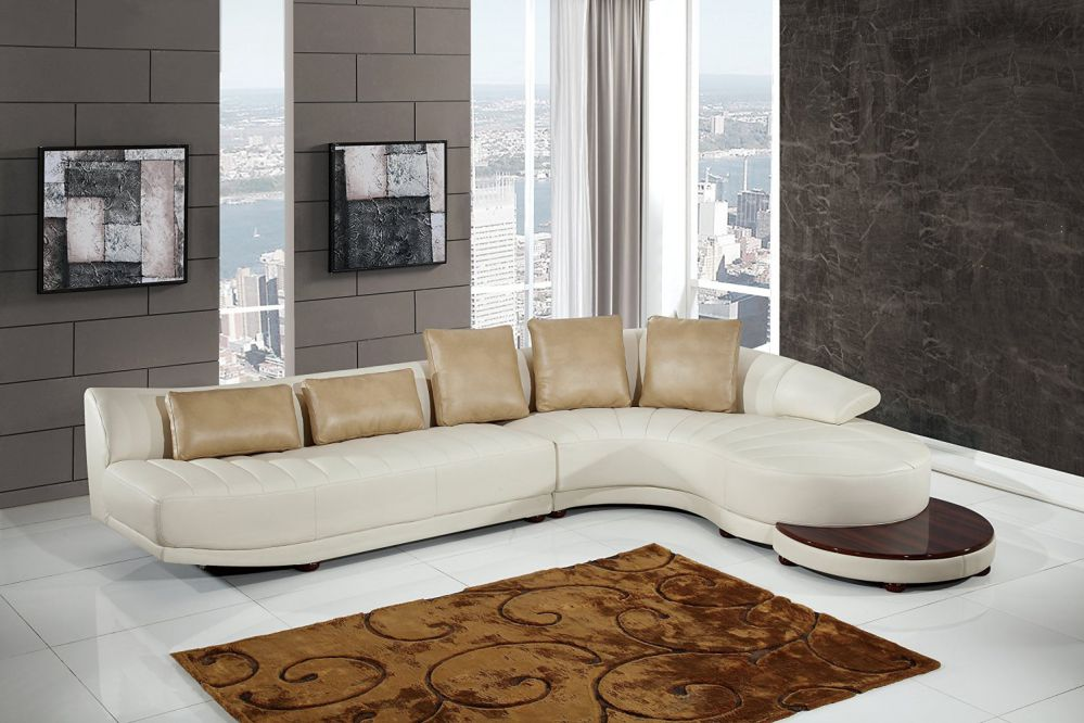 Global Furniture UFM208 - SECTIONAL Blanche Sectional, Milky/Ivory