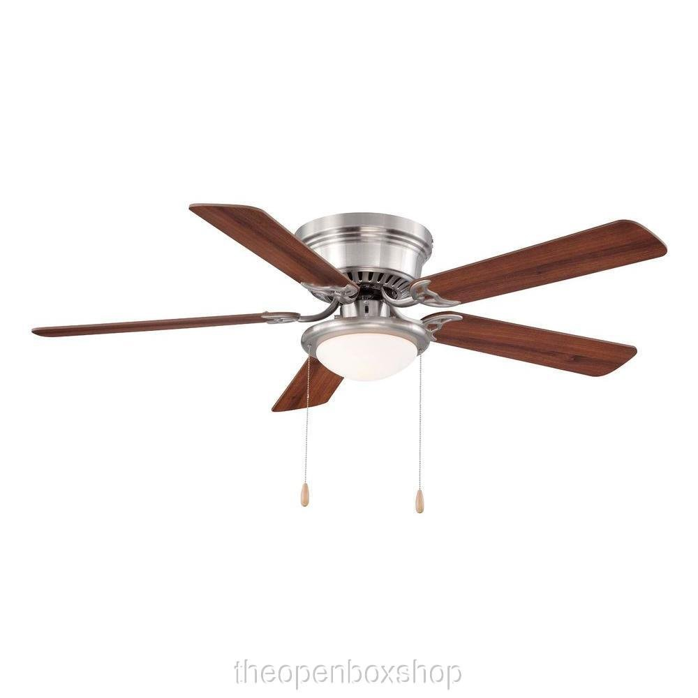 Hampton Bay Hugger 52 In. Brushed Nickel Ceiling Fan by Hampton Bay