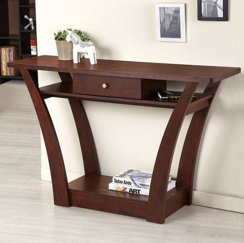 Narrow console table with storage advantages for Sofa table pictures