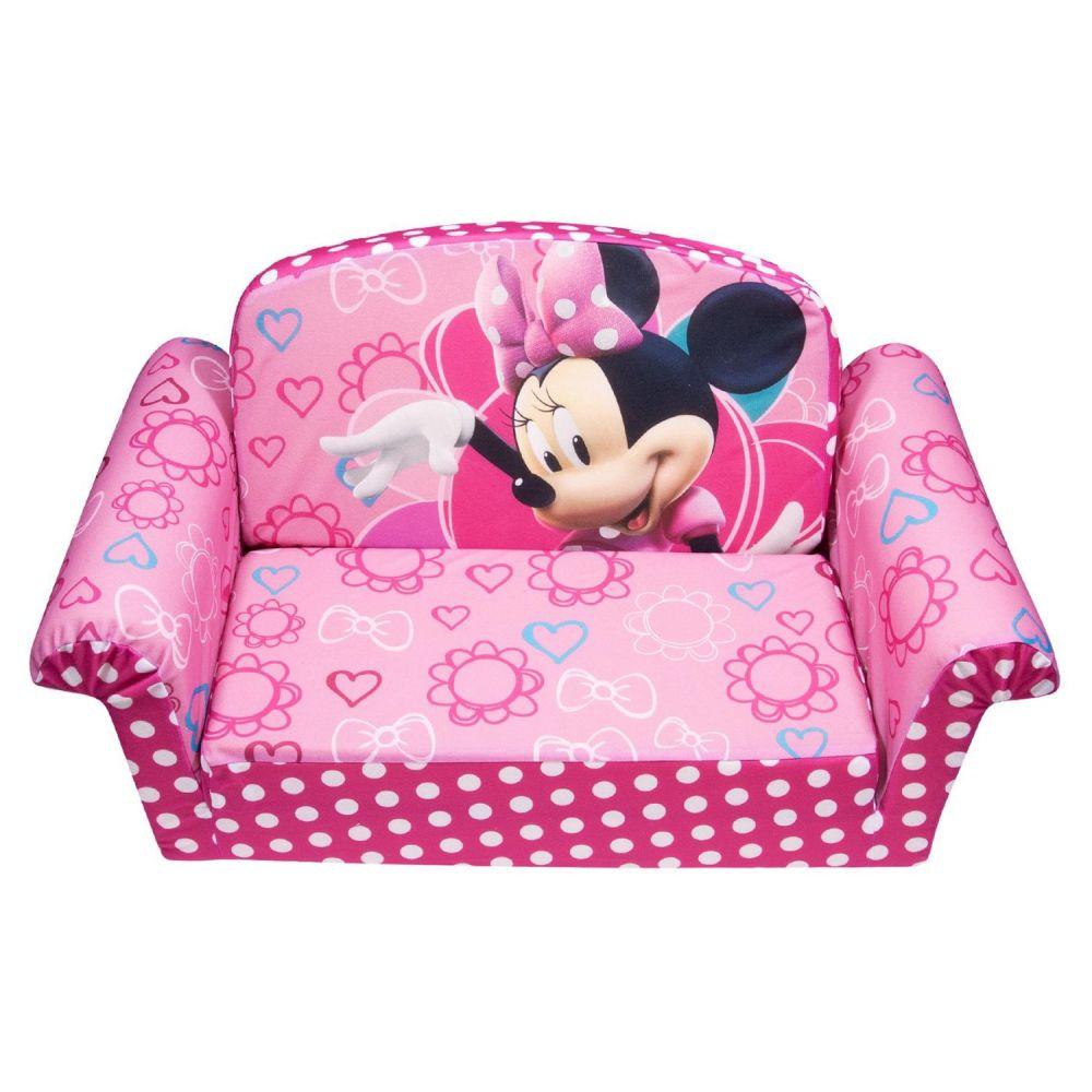 Marshmallow Furniture Minnies Bow-Tique Flip Open Sofa