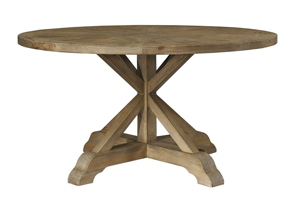 Padma's Plantataion Salvaged Wood Dining Table, 60-Inch Round
