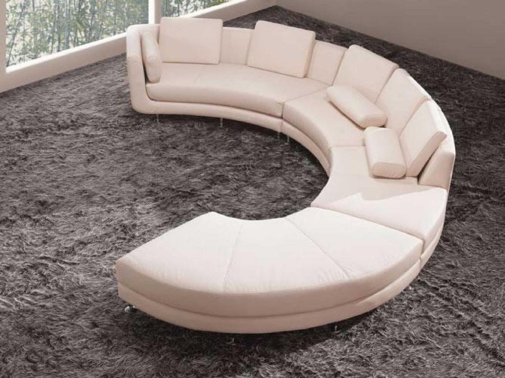 Vig Furniture A94 - White Leather Sectional Sofa Set