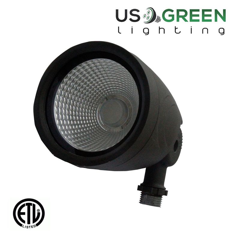 12 Watt UL Listed LED Bullet Flood Light 3000K Warm White 814 Lumen Waterproof Outdoor Lighting Fixture CREE (12 Watts)