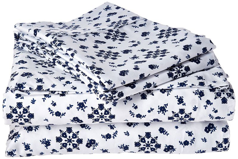 214 West 300 Thread Count Ditsy Floral Printed Sheet Set Abigail, Peach Floral