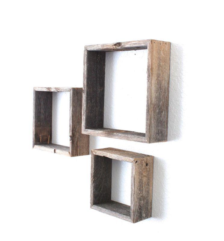 BarnwoodUSA Rustic Reclaimed Wood Shelves Open Box