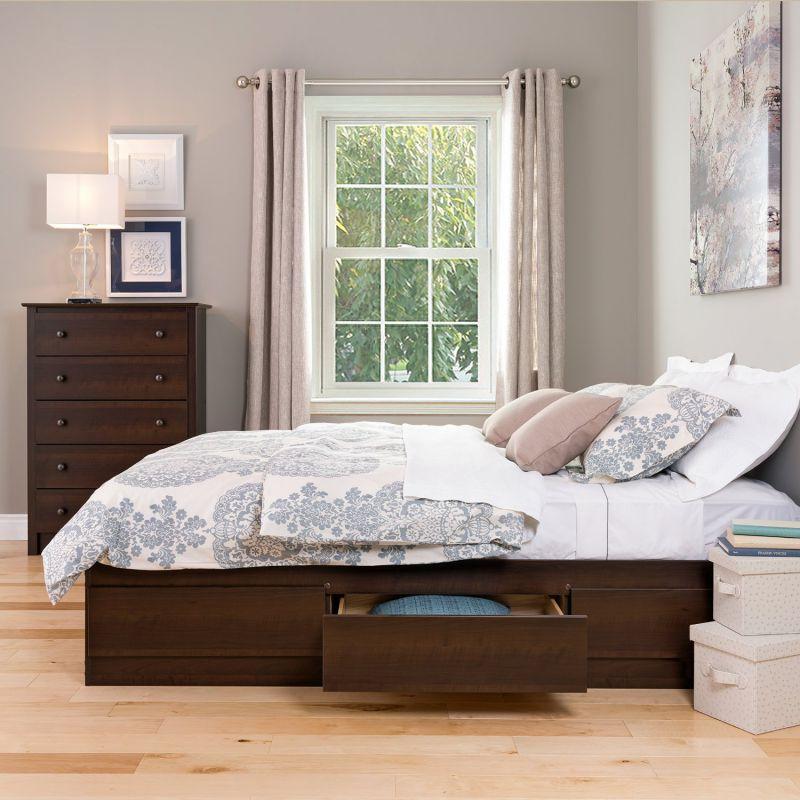 Espresso Queen Mate's Platform Storage Bed with 6 Drawers